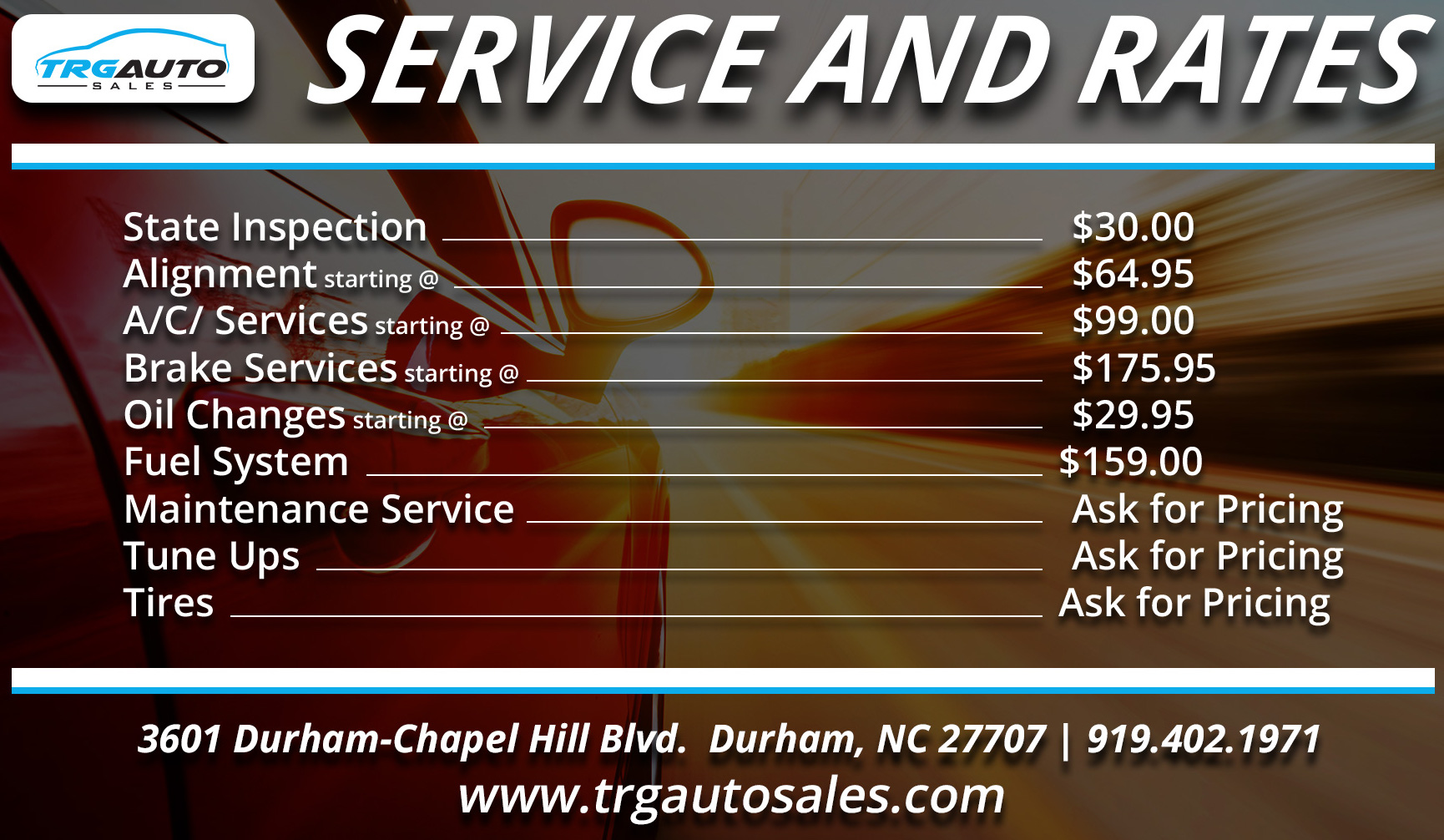 Trg auto sales service used cars durham nc dealer for Country hill motors inventory