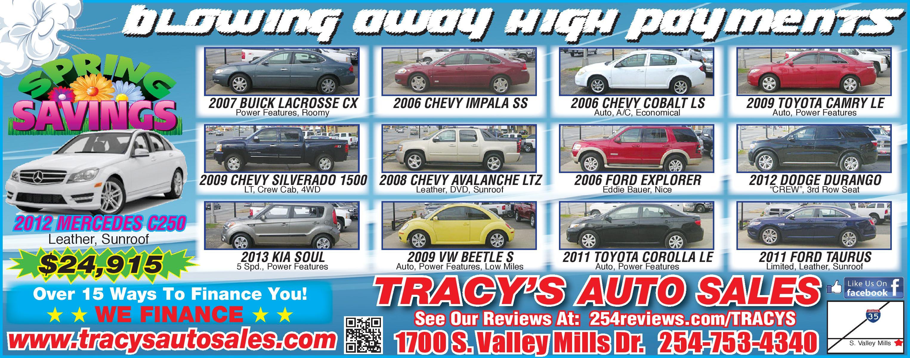used cars pickup trucks specials waco tx 76711 tracys auto sales