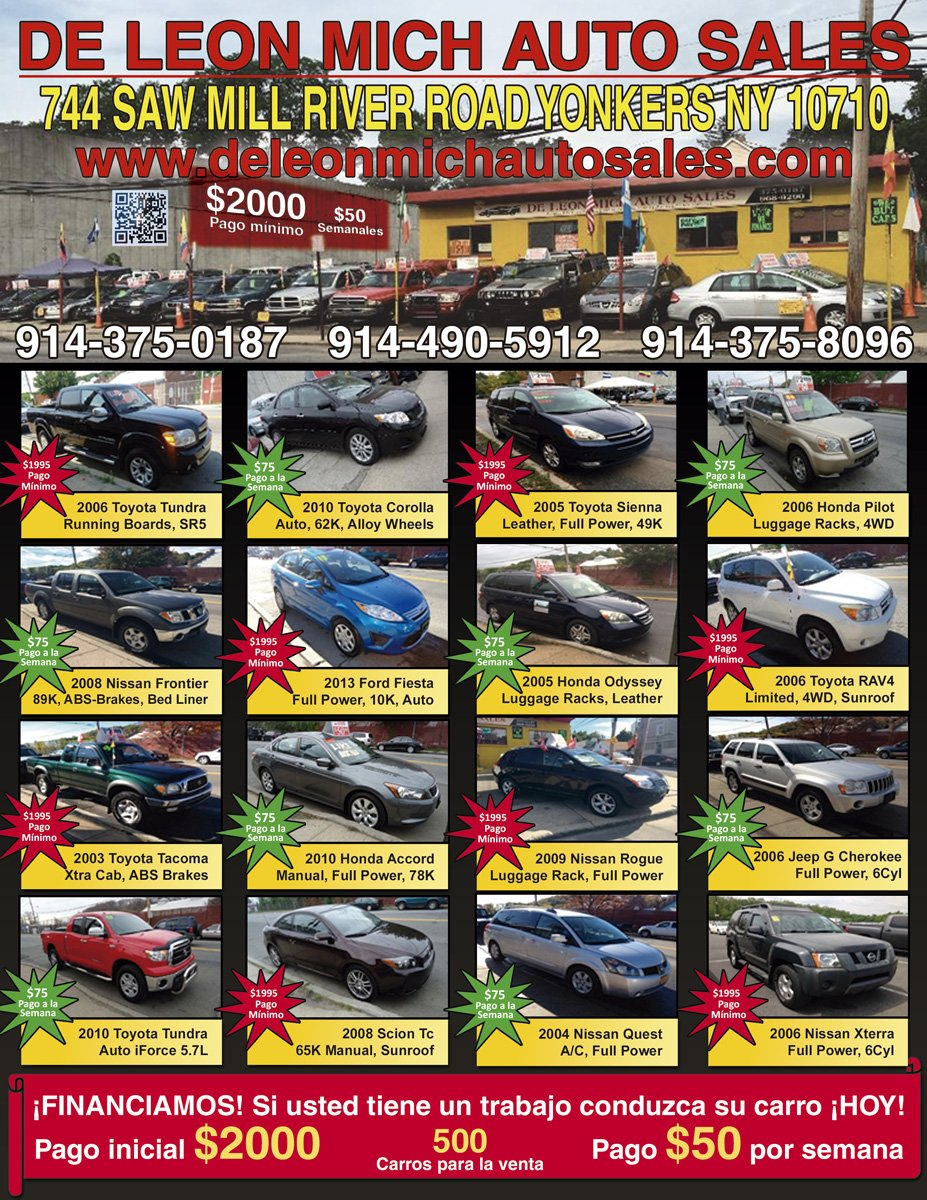 used cars automotive repair specials yonkers ny 10710   deleon mich