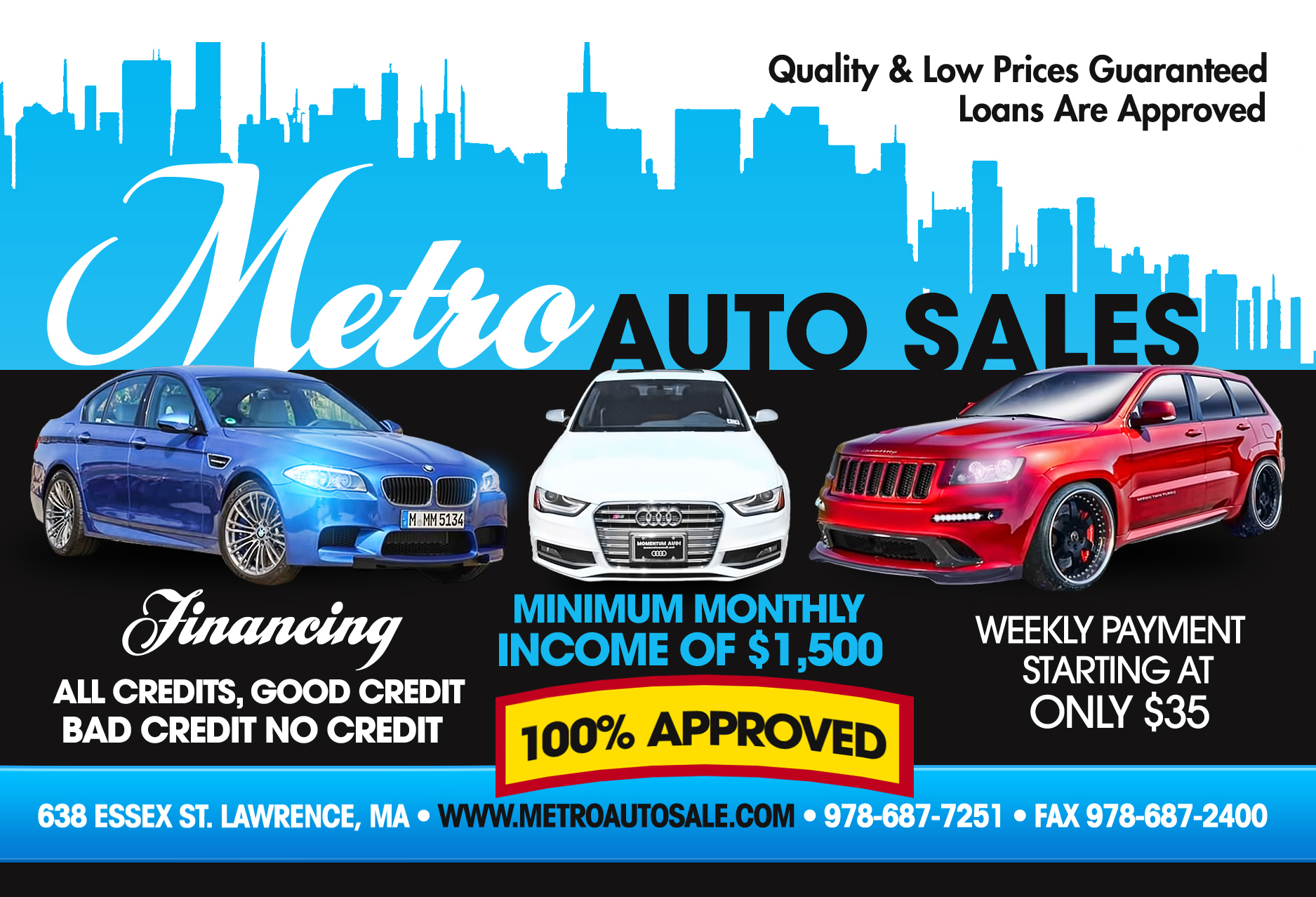 used cars pickup trucks specials lawrence ma 01841   metro auto sales