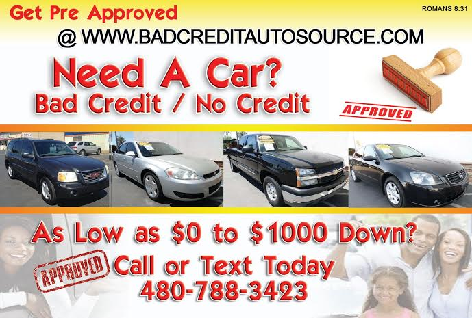 used cars bad credit auto loans specials tempe az 85281 all credit auto source. Black Bedroom Furniture Sets. Home Design Ideas