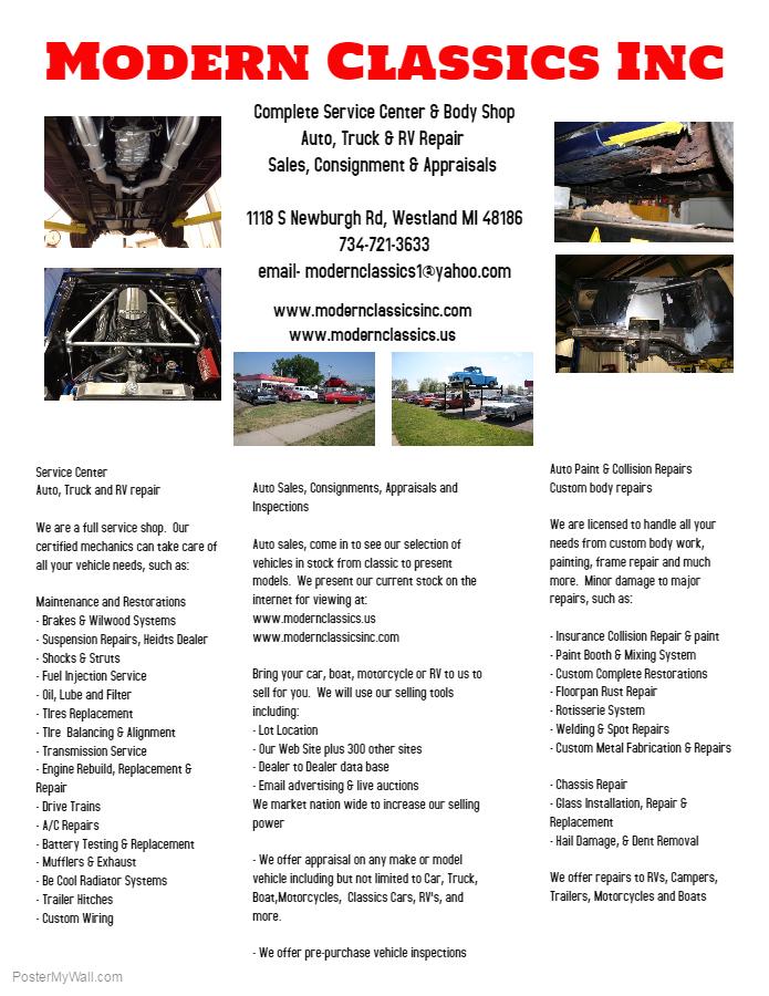 RV Campers Classic Cars Specials Westland MI 48186 - Modern ...