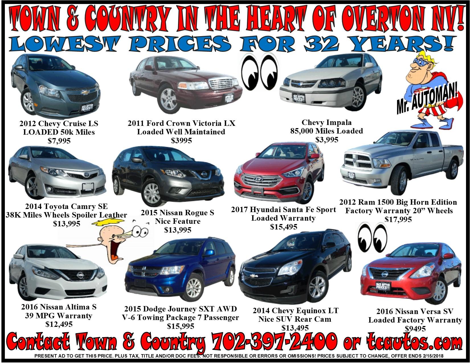 Pickup Trucks Car Warranties Specials Overton NV TOWN