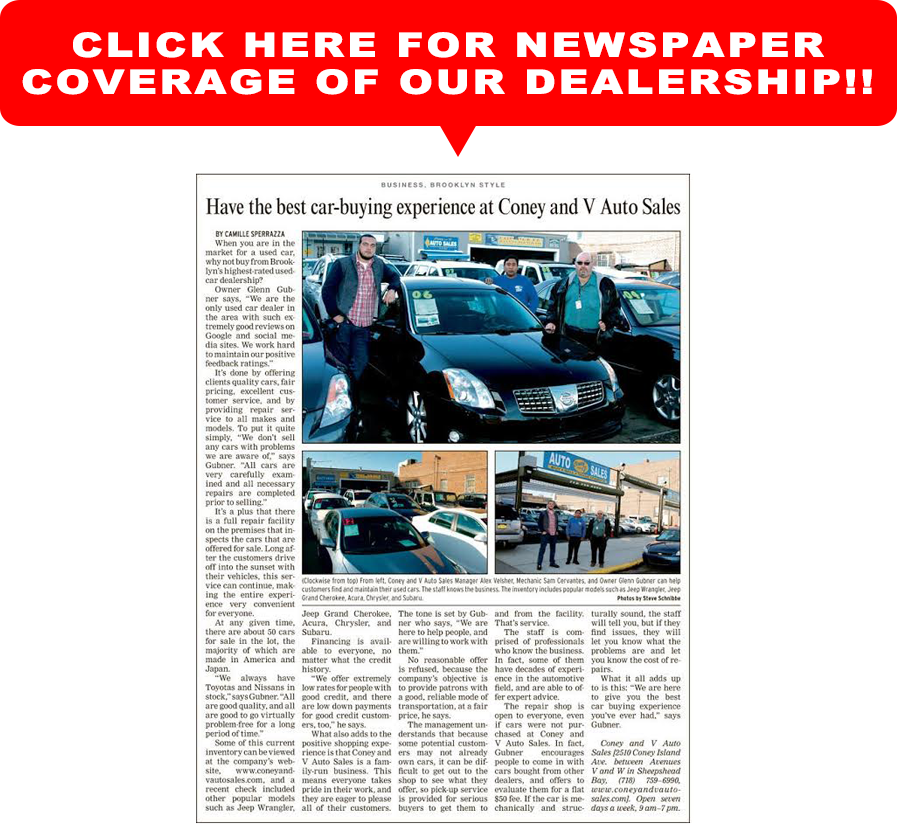 Car Dealerships In Brooklyn >> Coney And V Auto Sales Used Cars Brooklyn Ny Dealer