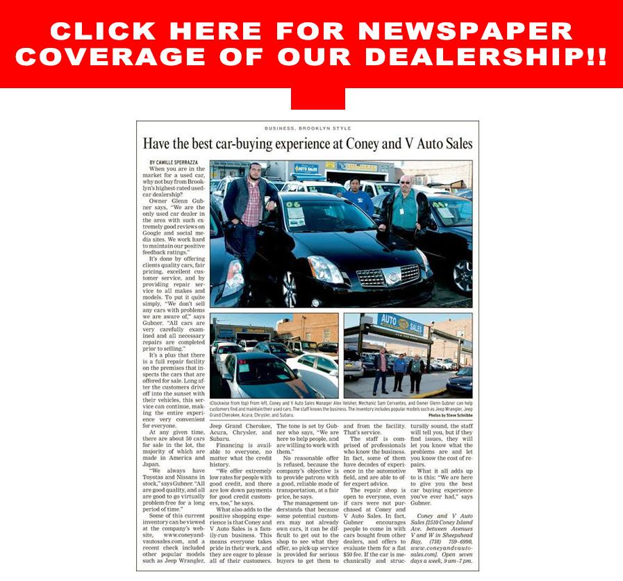 Coney and V Auto Sales - Used Cars - Brooklyn NY Dealer