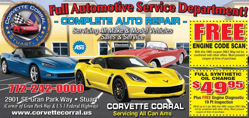 used cars service repair stuart fl 34997 oil change jensen beach fl jupiter fl corvette corral. Black Bedroom Furniture Sets. Home Design Ideas