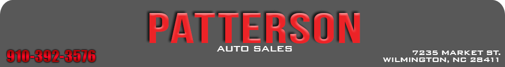 PATTERSON AUTO SALES - Wilmington, NC