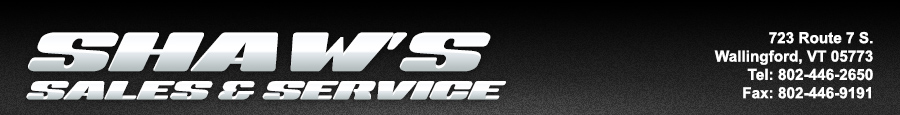 SHAW'S SALES & SERVICE - Wallingford, VT