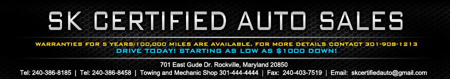 SKCERTIFIEDAUTOSALES.COM - Rockville, MD