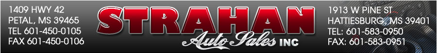 STRAHAN AUTO SALES INC - Hattiesburg, MS