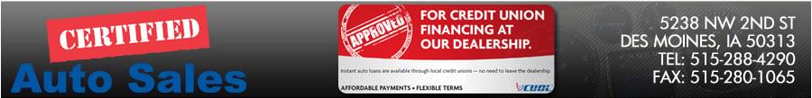 Certified Auto Sales - DES MOINES, IA