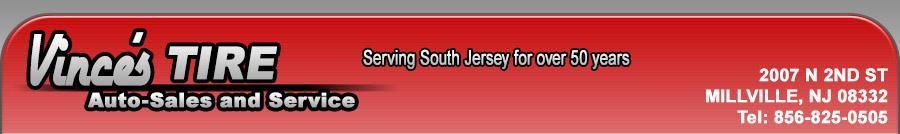VINCE'S TIRE AUTO SALES AND SERVICE - MILLVILLE, NJ