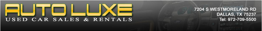 AUTO LUXE USED CAR SALES & RENTALS - Dallas, TX