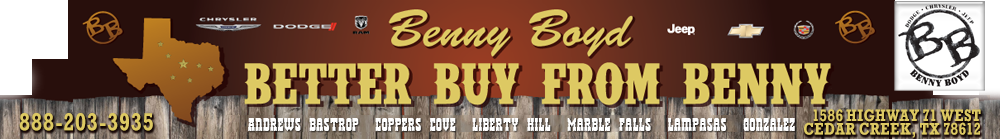 BENNY BOYD BASTROP CHRYSLER DODGE JEEP - Cedar Creek, TX