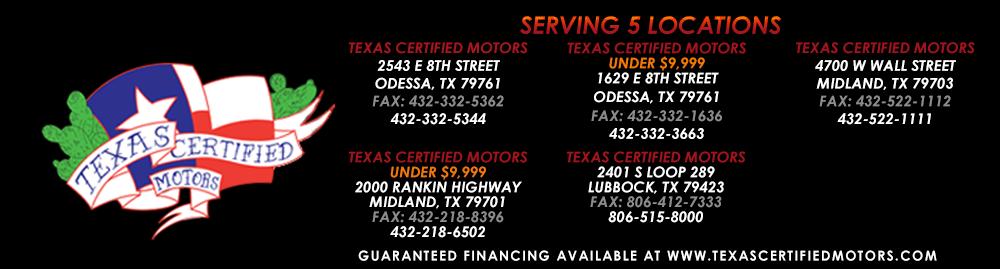 Texas Certified Motors Odessa - Odessa, TX