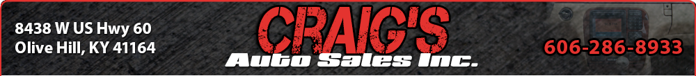 Craig's Auto Sales Inc. - Olive Hill, KY