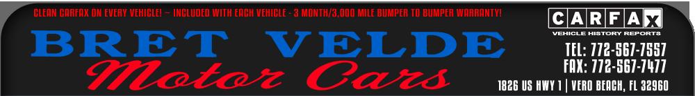 BRET VELDE MOTOR CARS - Vero Beach, FL