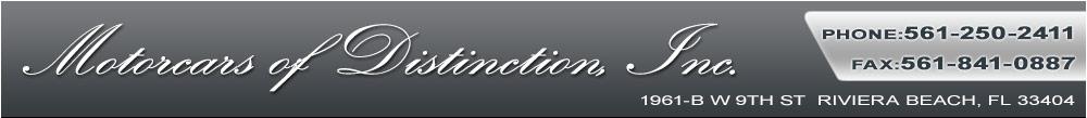 MOTORCARS OF DISTINCTION INC - WEST PALM BEACH, FL