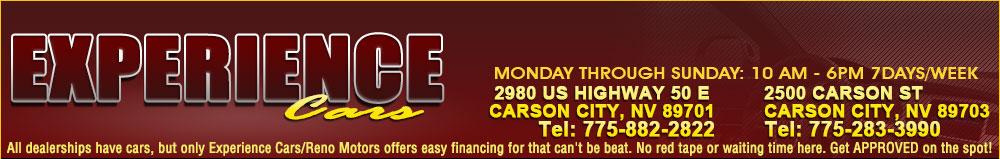EXPERIENCE CARS - Carson City, NV
