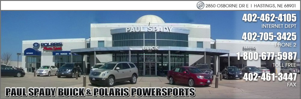 Paul Spady Buick and Polaris Powersports - Hastings, NE