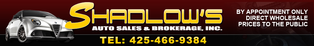 Shadlow's Auto Sales & Brokerage, Inc. - Kirkland, WA