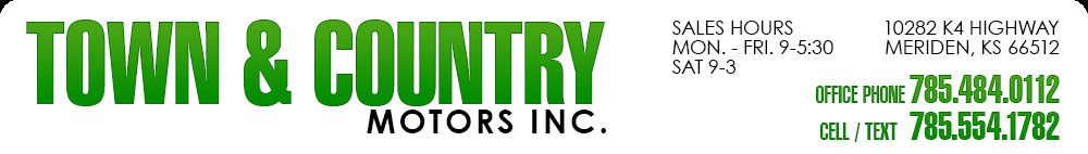 TOWN & COUNTRY MOTORS - Meriden, KS