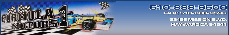 Formula 1 Motors - Hayward, CA