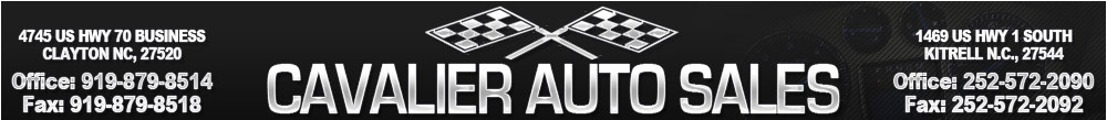 Cavalier Auto Sales - Zebulon, NC