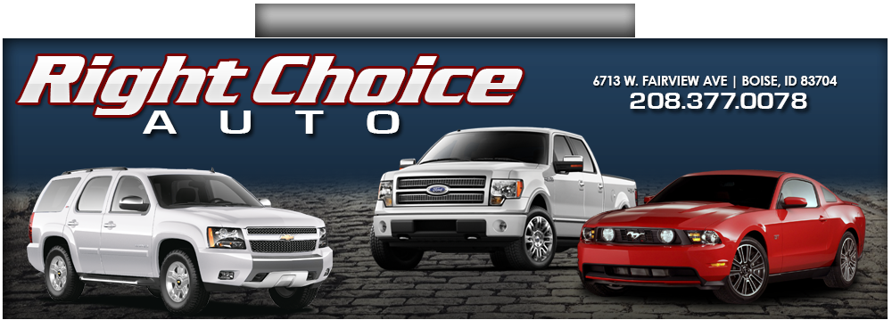 right choice auto used cars boise id dealer. Black Bedroom Furniture Sets. Home Design Ideas