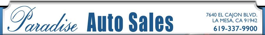 Paradise Auto Sales - La Mesa, CA