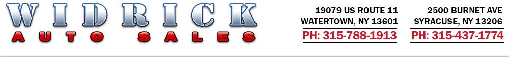 Widrick Auto Sales - Watertown, NY