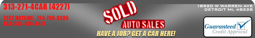 SOLD AUTO SALES - Detroit, MI