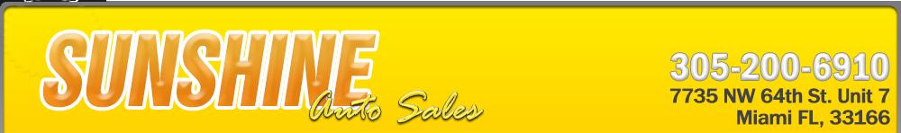 Sunshine Auto Sales - Miami, FL
