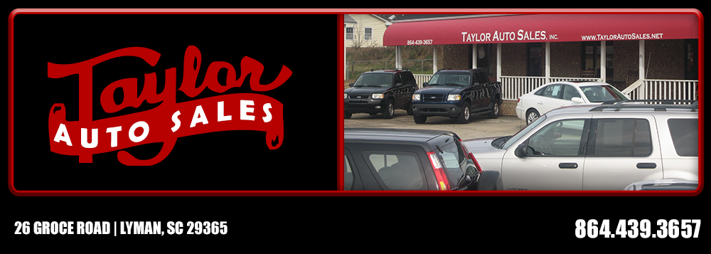 Taylor Auto Sales >> Taylor Auto Sales Inc Used Cars Lyman Sc Dealer