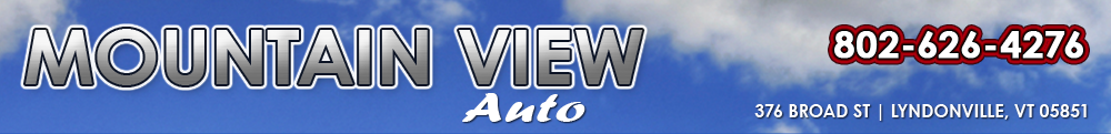 MOUNTAIN VIEW AUTO - Lyndonville, VT