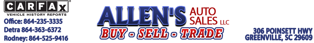 Allen's Auto Sales LLC - Greenville, SC