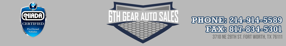 6th Gear Auto Sales - Fort Worth, TX