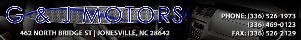 G AND J MOTORS - Jonesville, NC