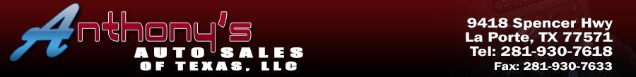 Anthony's Auto Sales of Texas, LLC - La Porte, TX