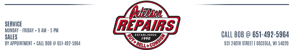 Peterson Repairs - OSCEOLA, WI