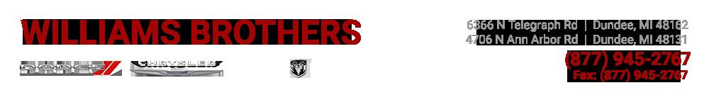 Williams Brothers Dodge Chrysler Jeep Ram - Dundee, MI