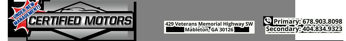 Certified Motors LLC - Douglasville, GA
