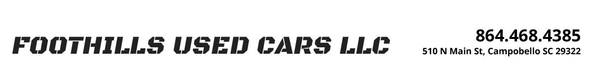 Foothills Used Cars LLC - Campobello, SC