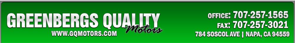 Greenbergs Quality Motors - Napa, CA