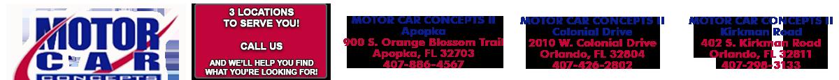 Motor Car Concepts 2 KIRKMAN RD. - Orlando, FL