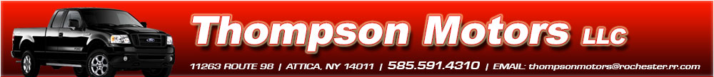 Thompson Motors LLC - Attica, NY