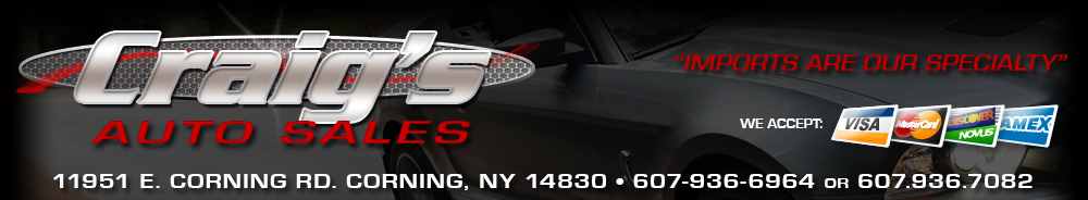 Craig's Auto Sales - Corning, NY