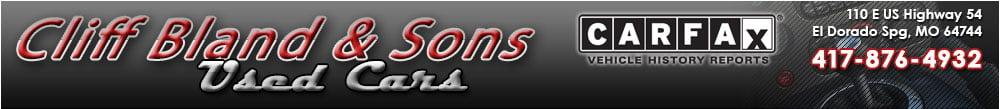 Cliff Bland & Sons Used Cars - El Dorado Spg, MO