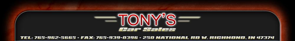 Tonys Car Sales - Richmond, IN