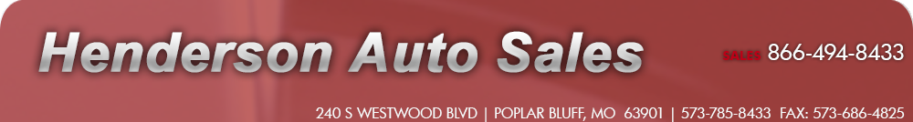 Henderson Auto Sales - Poplar Bluff, MO